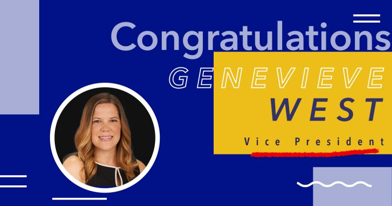 Genevieve West Recently Promoted to Vice President
